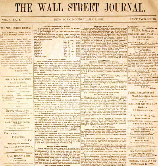 The Wall Street Journal - Prima edizione