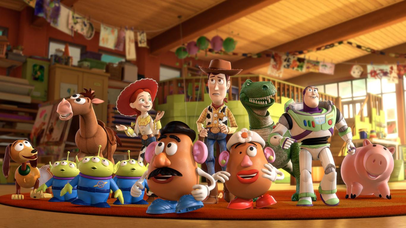 """I giocattoli protagonisti del film """"Toy Story"""" (Pixar)"""