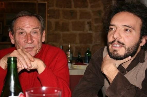 Zeman con il regista Giuseppe Sansonna