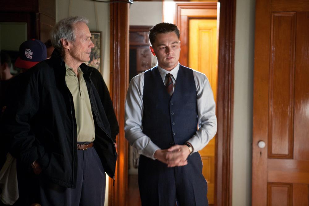 J. Edgar - Una scena del film con il regista e il protagonista
