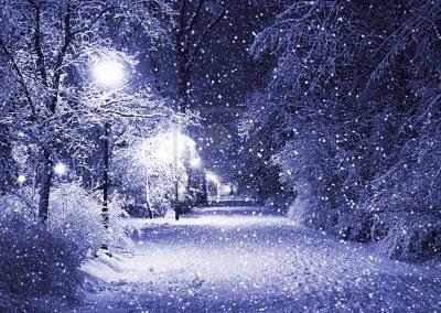 Il silenzio durante una nevicata, e il silenzio dopo una nevicata