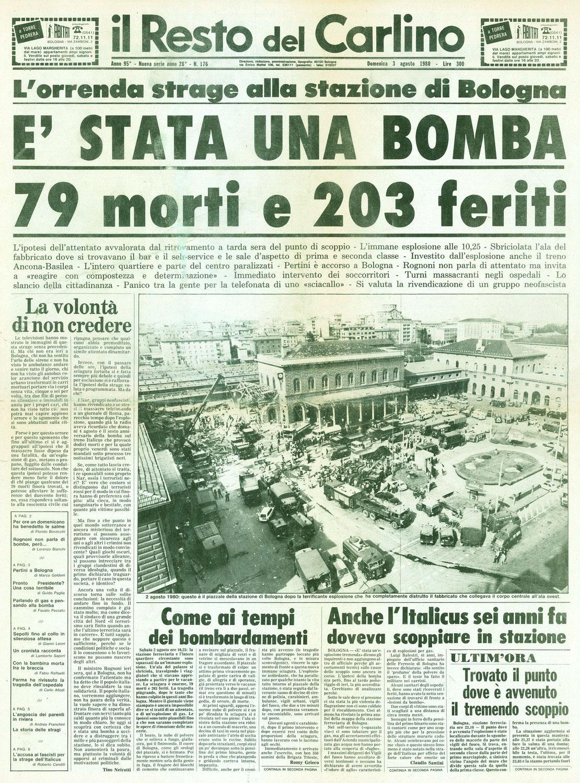 Strage di Bologna - Giornale