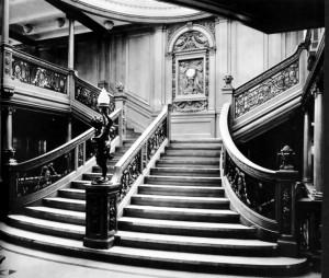 Salone e scalinata del Titanic