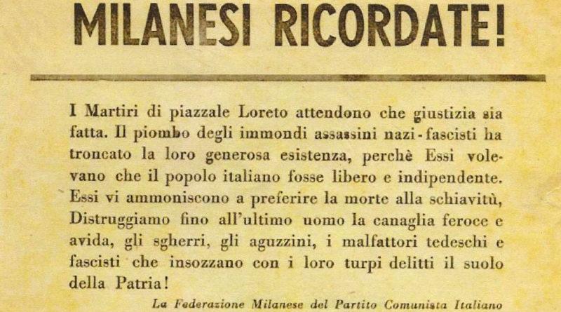 Strage Piazzale Loreto Milano - 1944