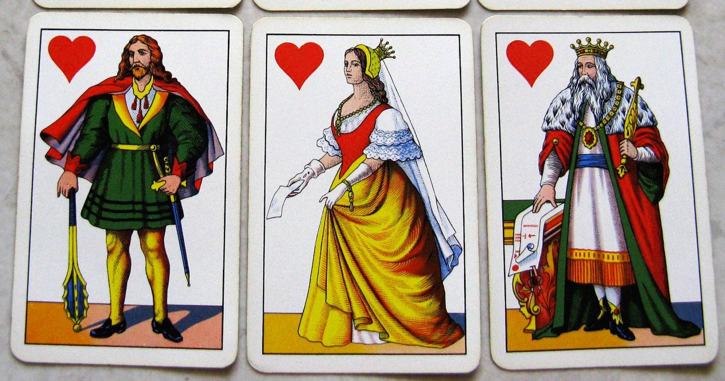 Carte da gioco: figure di cuori