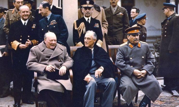 1945 - Churchill, Roosevelt e Stalin alla conferenza di Jalta