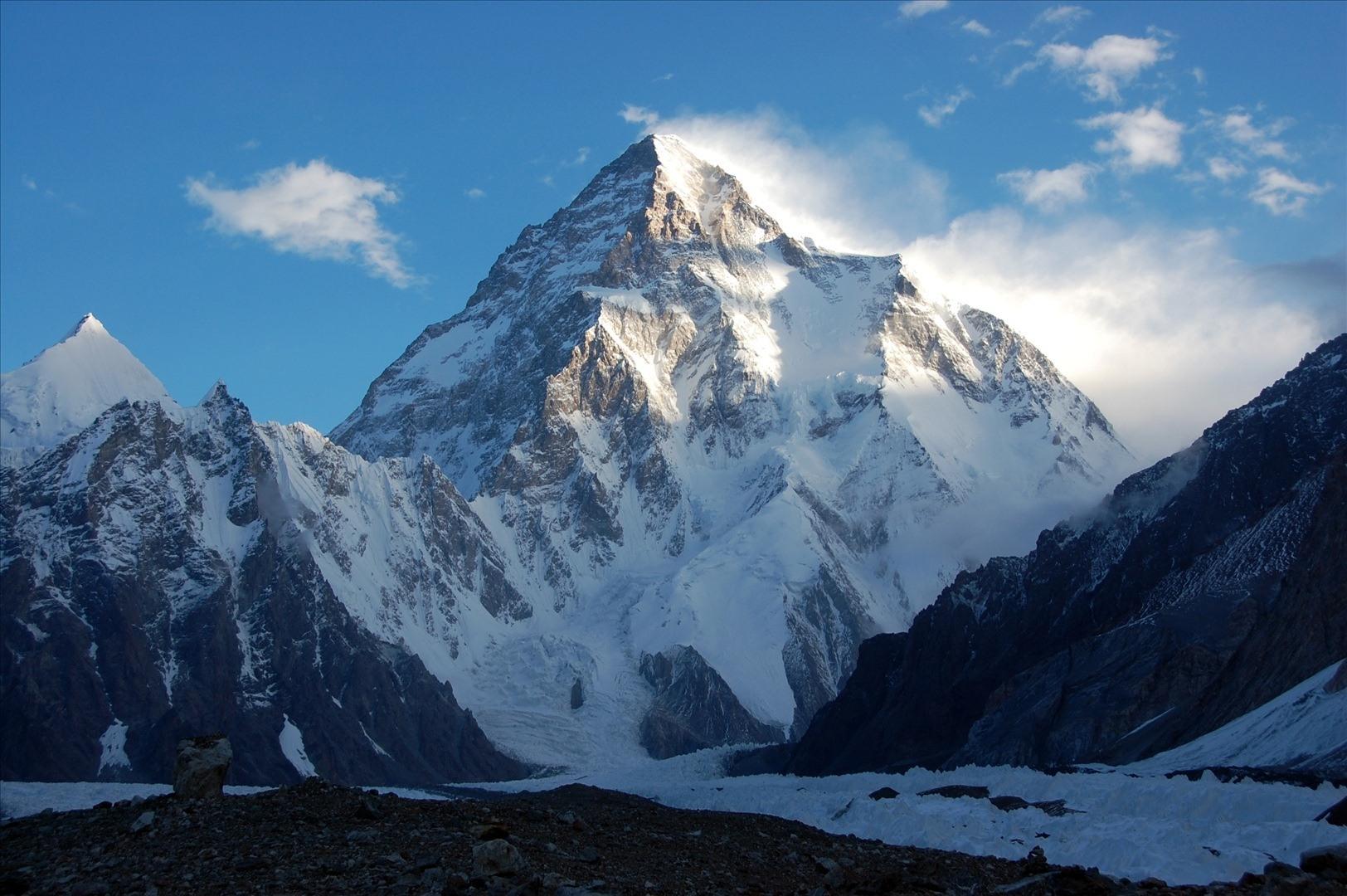 Una foto del K2, la seconda montagna più alta del mondo