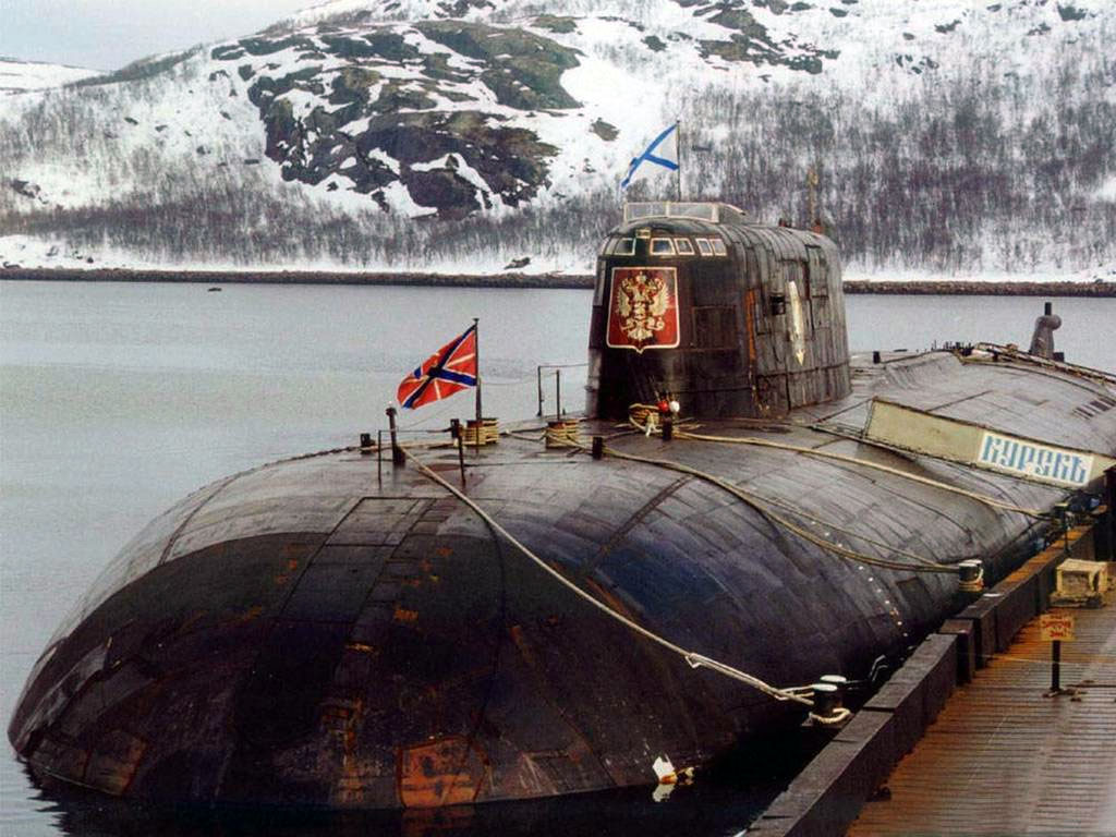 Il sottomarino nucleare russo Kursk K-141