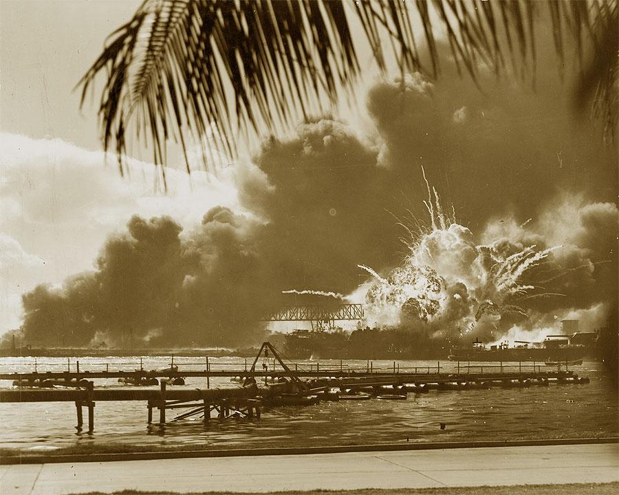Pearl Harbor, una foto dell'attacco