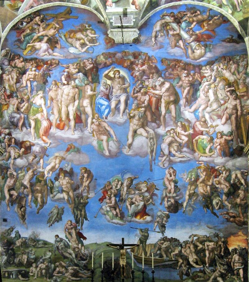 Il Giudizio Universale presente nella Cappella Sistina, capolavoro di Michelangelo Buonarroti