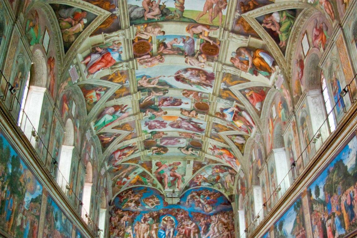 Una foto della Cappella Sistina