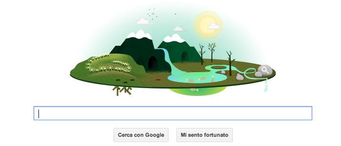 La giornata mondiale della Terra, 2013 - Il Google doodle