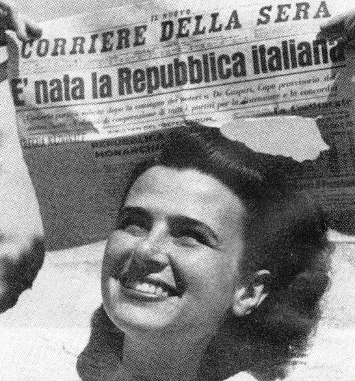 la notizia della nascita della Repubblica Italiana