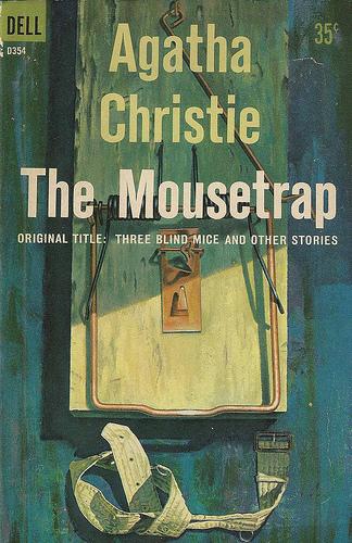 """""""Trappola per topi"""", copertina inglese del libro"""