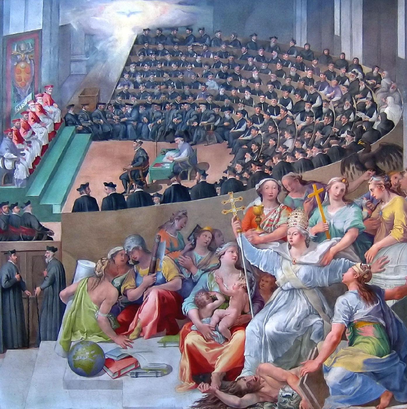 Il concilio di Trento, dipinto di Pasquale Cati (1588)