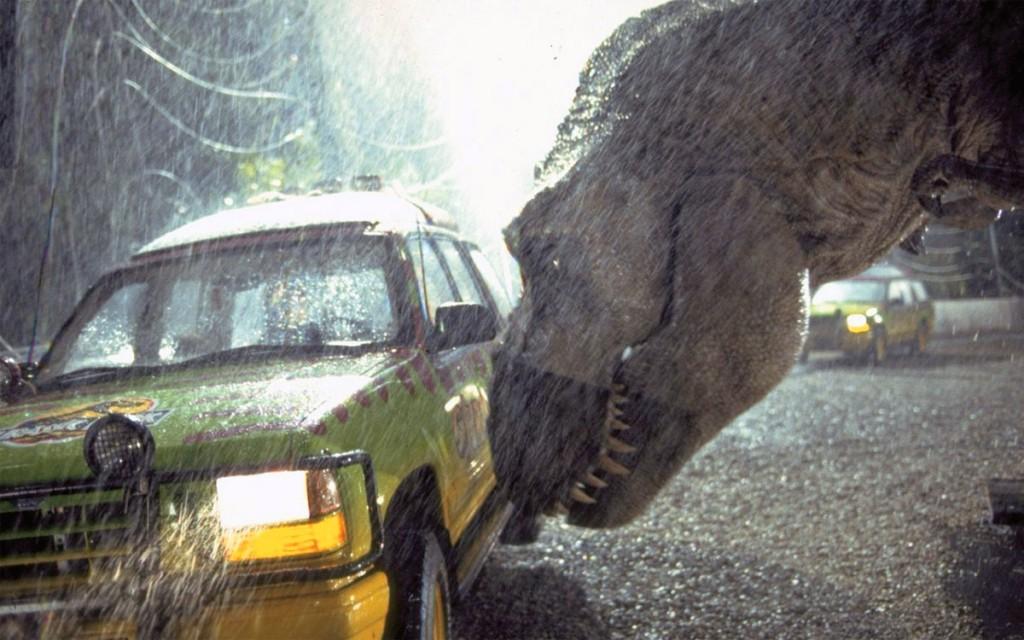 Jurassic Park, una scena del film