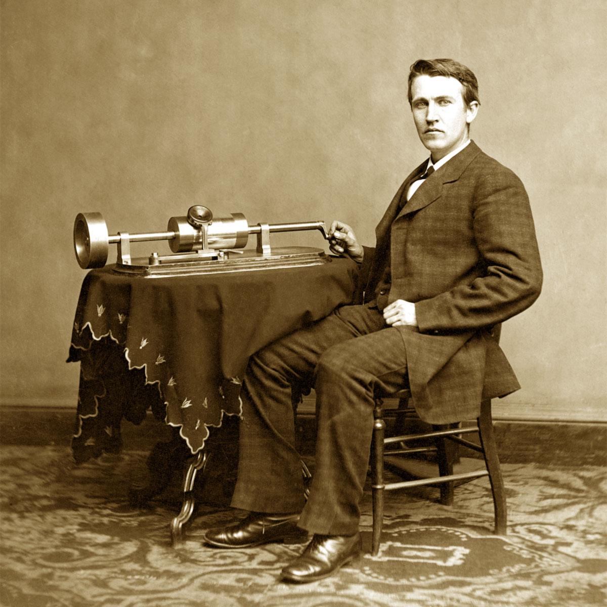 Thomas Edison e il suo fonografo