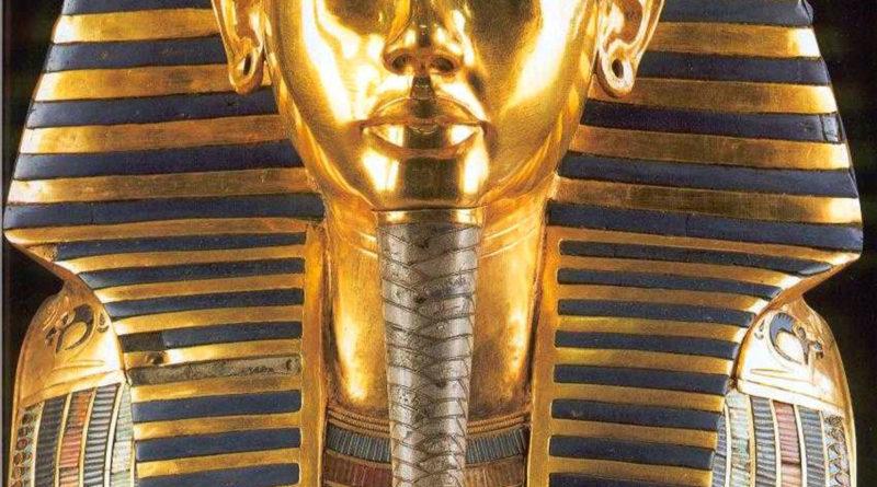 La maschera d'oro del faraone Tutankhamon