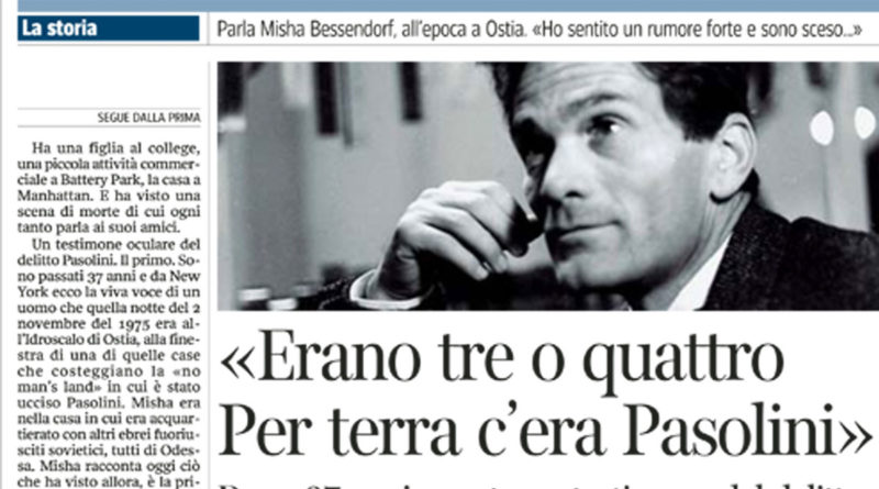 L'assassinio di Pasolini