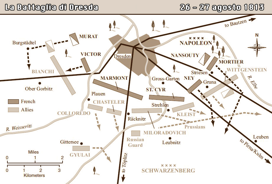 La Battaglia di Dresda - La mappa