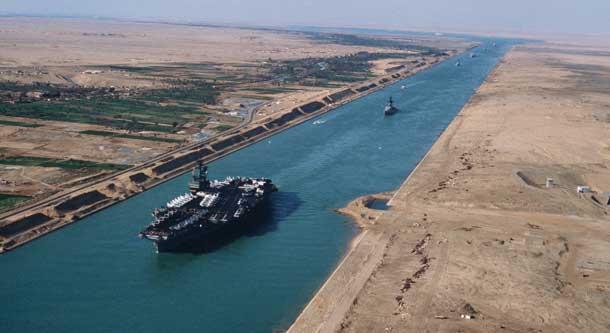 Una foto del Canale di Suez