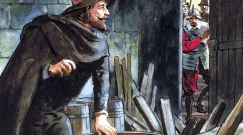 La congiura delle polveri: un disegno che ritrae Guy Fawkes