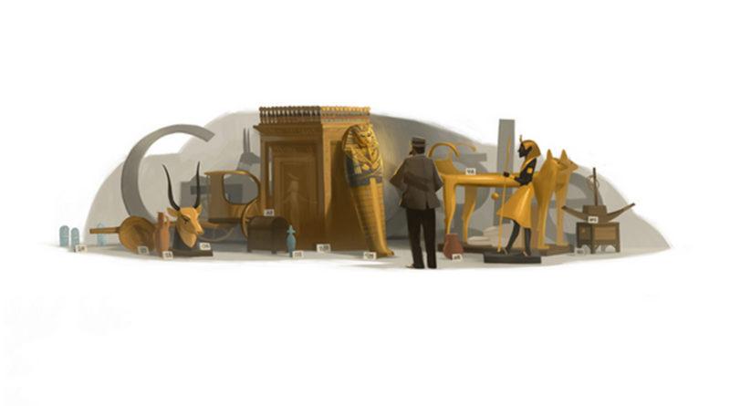 Il doodle di Google del 9 maggio 2012 dedicato ad Howard Carter