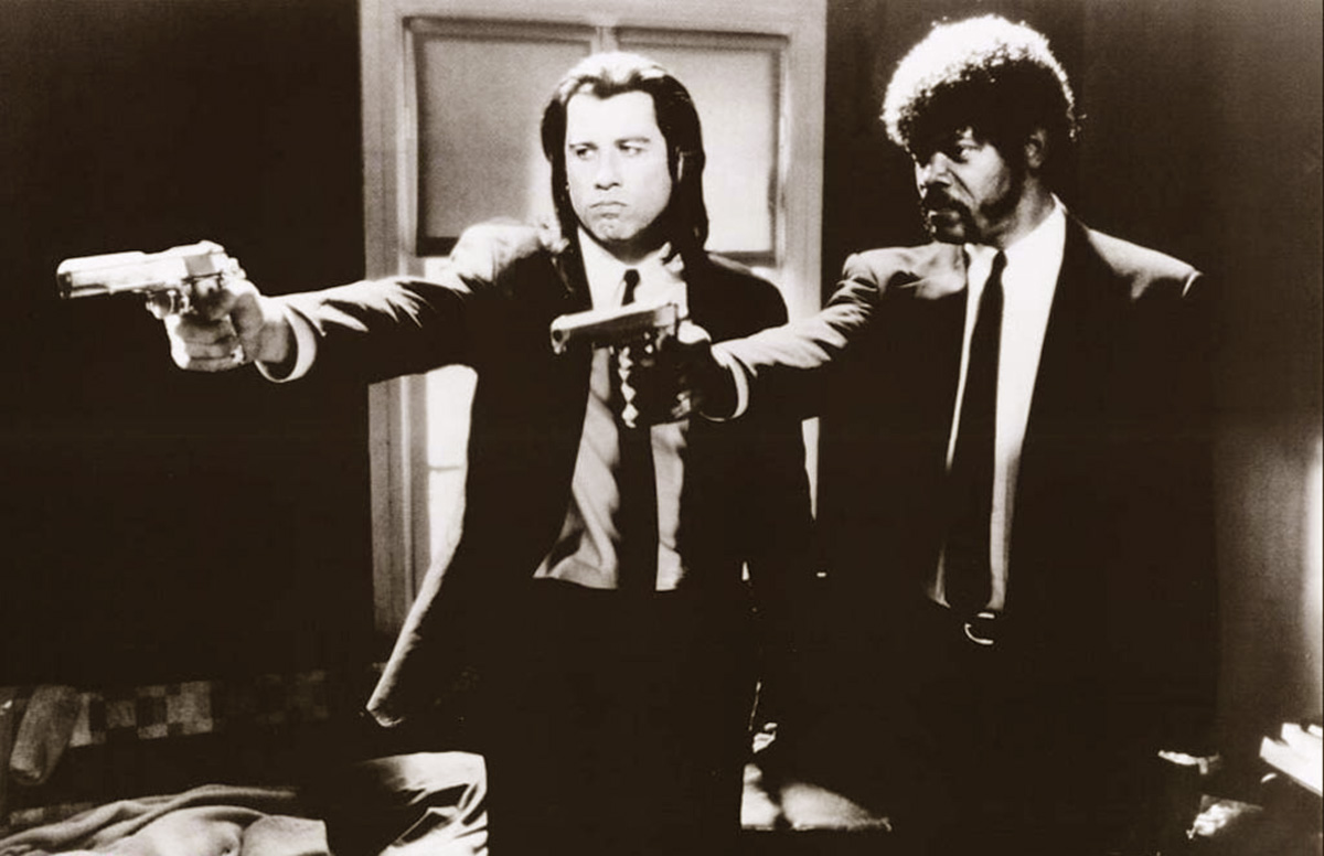 Vincent vega e jules winnfield in una famosa scena di pulp fiction