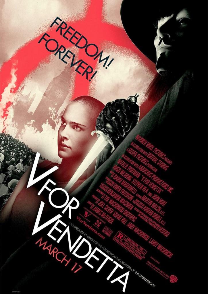 V per Vendetta, la locandina del film
