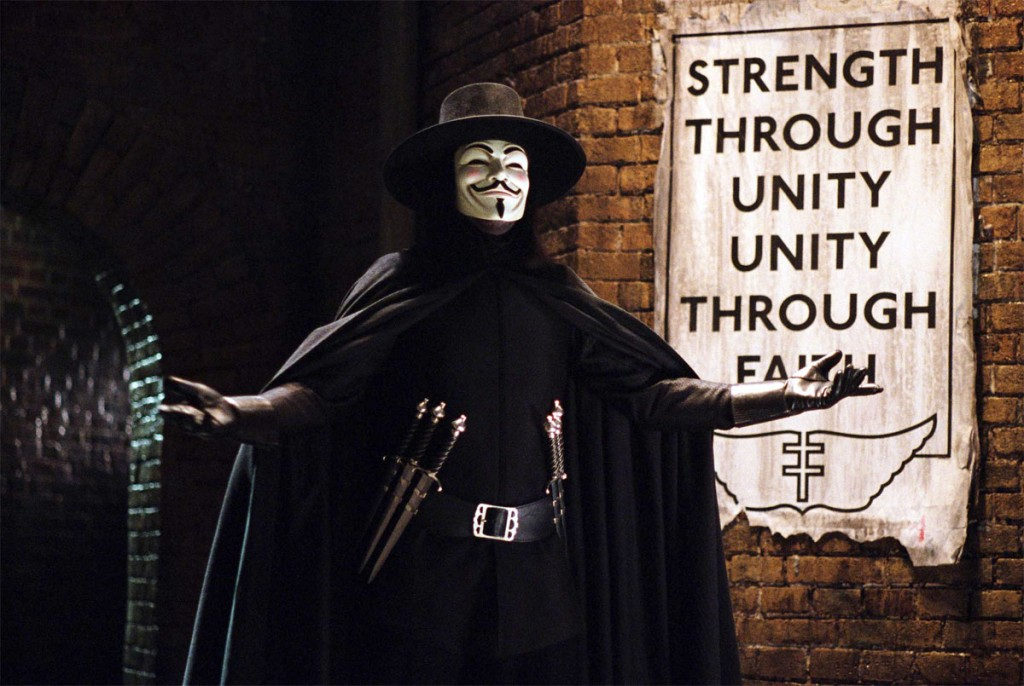 V per Vendetta, una scena del film