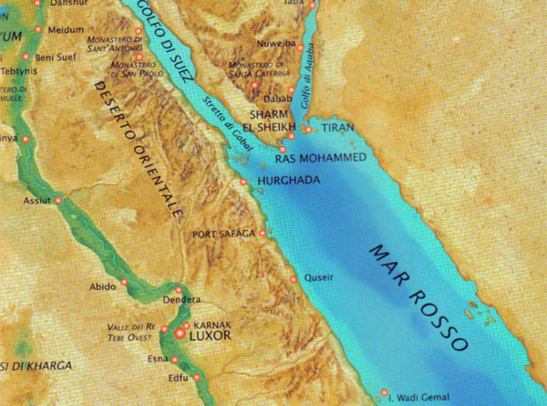 Cartina del Canale di Suez