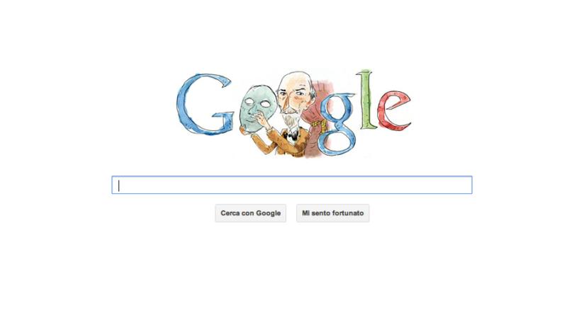 Doodle Google celebrativo: Luigi Pirandello