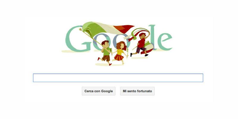 Doodle Google dedicato alla Festa della Repubblica Italiana - 2 giugno 2012