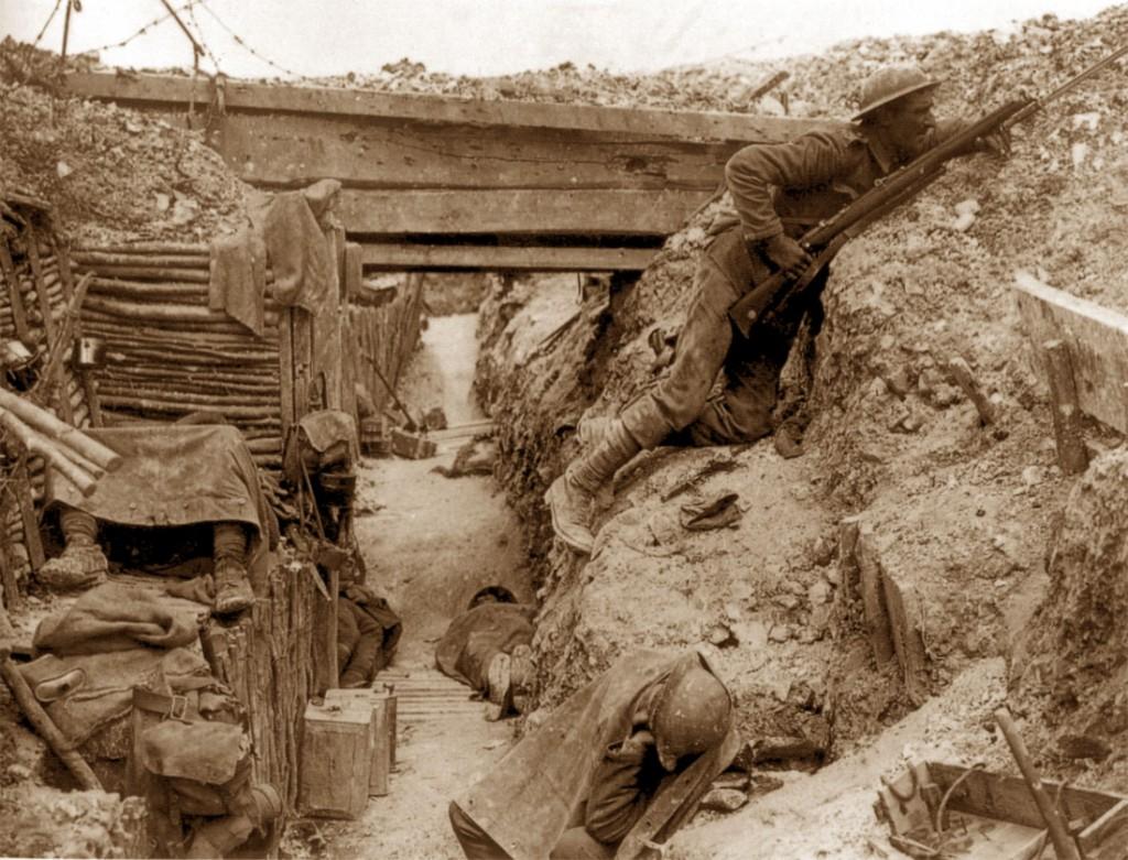 Prima Guerra Mondiale, soldati in trincea (1916)