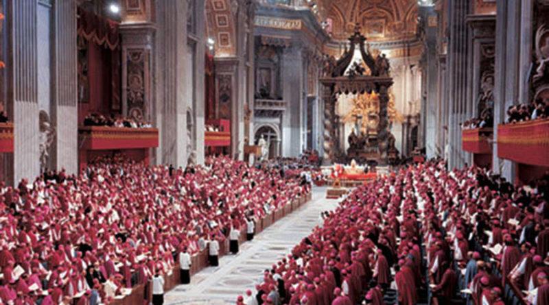 Una foto del Concilio Vaticano II
