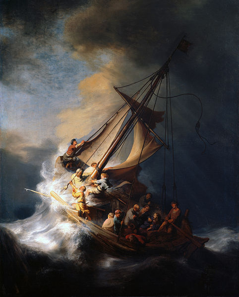 Opera di Rembrandt: Christ in the Storm on the Lake of Galilee (1633)
