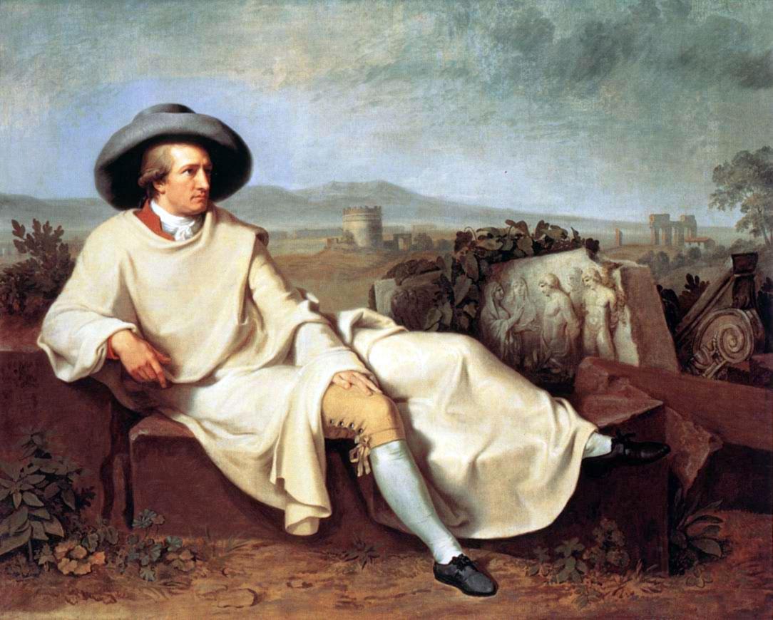 Goethe ritratto durante il suo Grand Tour in Italia (1786-1788)