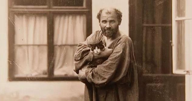 Gustav Klimt amava i gatti