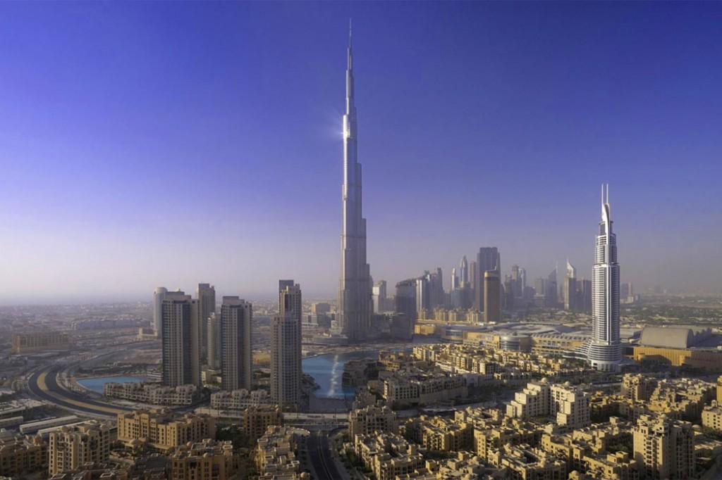 Dubai: un'altra foto del grattacielo Burj Khalifa