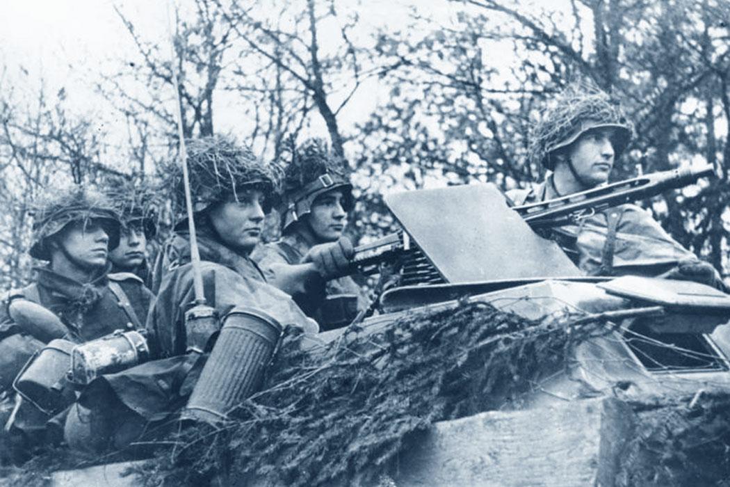 Offensiva delle Ardenne (Belgio): soldati tedeschi pronti all'offensiva