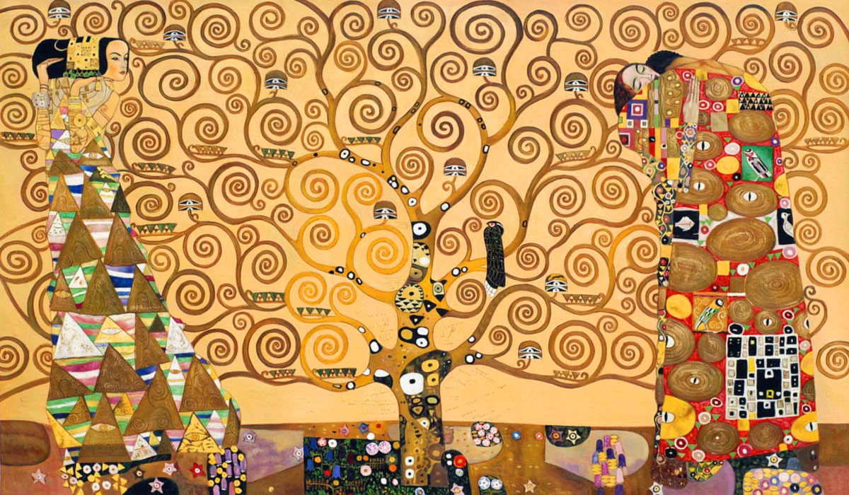 l 39 albero della vita opera di gustav klimt. Black Bedroom Furniture Sets. Home Design Ideas