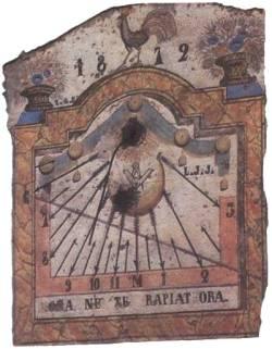 Antica meridiana del 1872 ubicata vicino a Sestriere