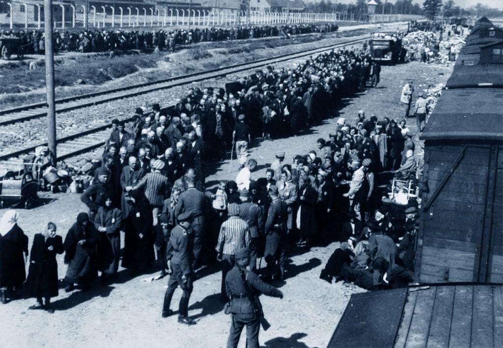 Auschwitz, una foto del campo di concentramento