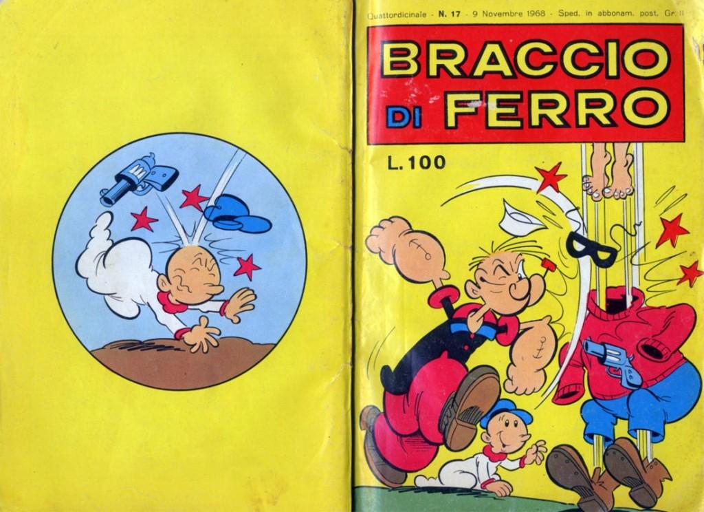 Braccio di Ferro, una copertina italiana del 1968