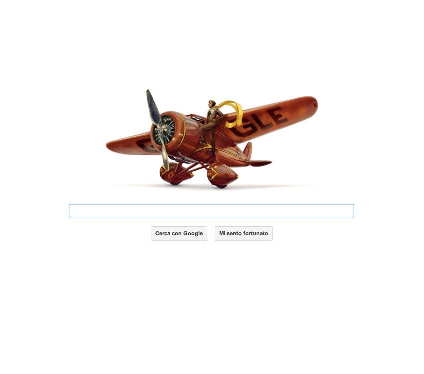 Logo Google dedicato ad Amelia Earhart