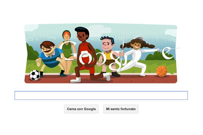 Doodle Google dedicato alla cerimonia di apertura dell Olimpiadi di Londra 2012