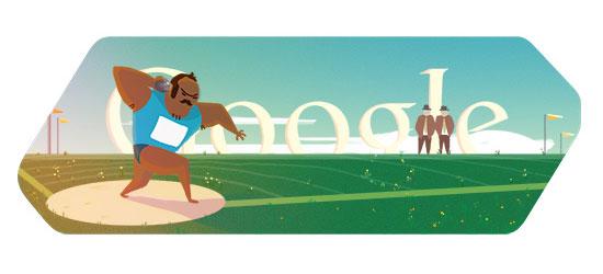Doodle Google Olimpiadi - Londra 2012 - Getto del peso