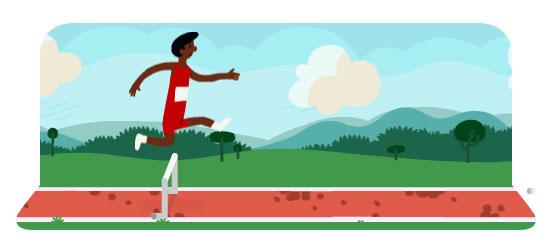 Doodle Google animato - Olimpiadi 2012 - Corsa ad ostacoli