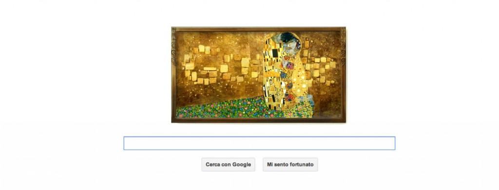 Gustav Klimt, logo Google dedicato al 150° anniversario della sua nascita