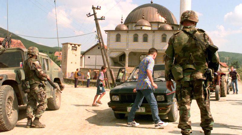 Kosovo, foto di un checkpoint